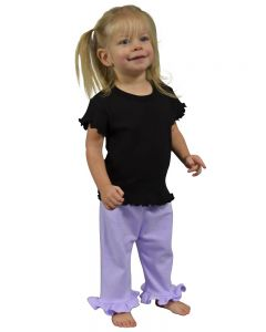 Infant Ruffle Bottom Pants-Lavender-0-3m
