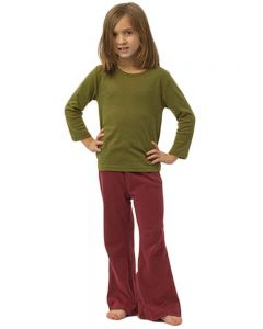 Infant Girls Pants-Red-3-6m