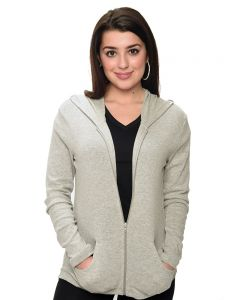 Baby Rib Hooded Jacket-White-M