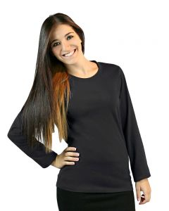 Ladies Long Sleeve Crew Neck Tee