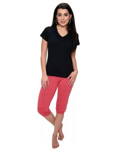 Drawstring Capri with Elastic Bottom