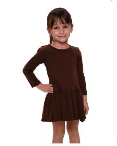 Interlock Long Sleeve Pleated Dress