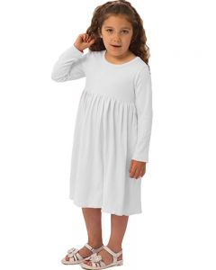 Youth Long Sleeve Empire Dress-Apple Green-Youth S