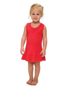 Interlock Ruffle Tank Dress