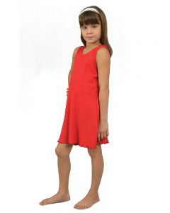 Youth Baby Rib Tank Dress-Turquoise-Youth S