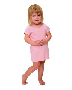 Toddler Short Sleeve Dress with Pockets-White-2y