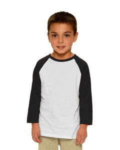 Toddler Fine Jersey Raglan Tee-White/Black-6