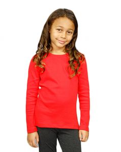 Youth Interlock Long Sleeve Girls Tee