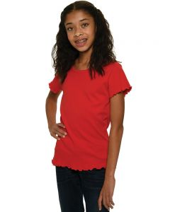 Interlock Short Sleeve Lettuce Girls Tee