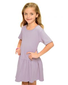 Youth Short Sleeve Pleated Dress