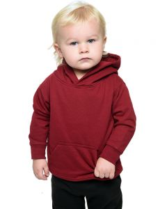 Youth Fleece Hooded Pullover-Cardinal-Youth S