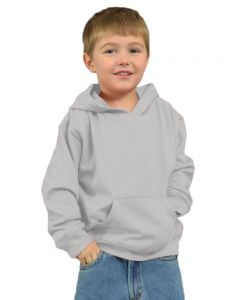 Youth Fleece Hooded Pullover-White-Youth S