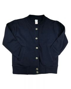 Toddler Fleece Jacket with Buttons-Navy-2