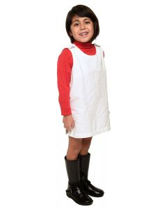 Toddler Canvas Coverall-White-6y