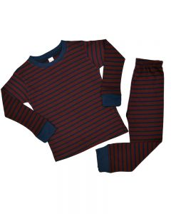 Maroon Toddler Striped Shirt and Pants Set