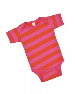 Orange and Fuchsia Striped Bodysuit