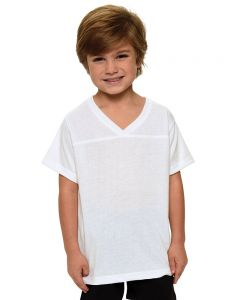 Youth Polyester Short Sleeve Sports Jersey-White-YL