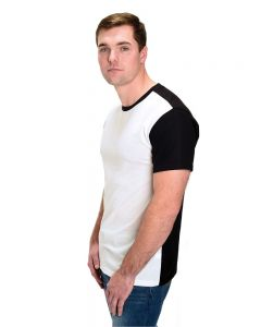 Polyester Short Sleeve Contrast Tee
