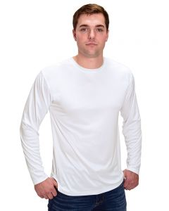 MicroPoly Long Sleeve Men's Crew Neck Tee