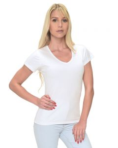 MicroPoly Short Sleeve Classic V-Neck Tee