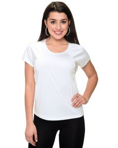 MicroPoly Short Sleeve Women Raglan Tee