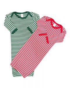 Christmas Baby Gowns Stripped baby Gown, Red Striped Baby Gown Newborn Christmas Gift set