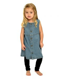 Toddler Denim Front Button Dress